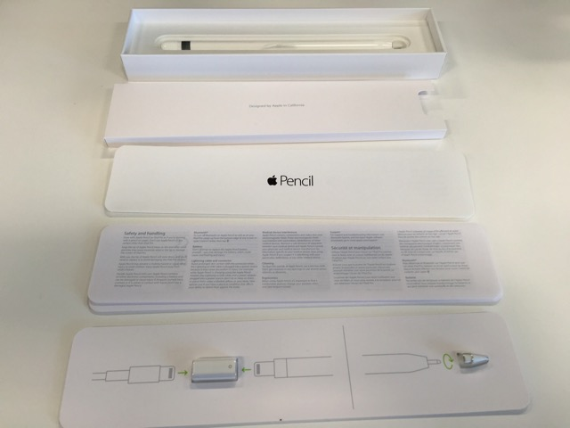 Apple Pencil 内箱内訳