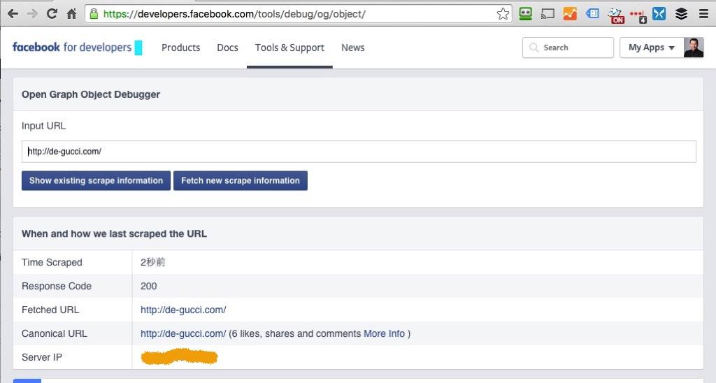 Facebook Debugger OK