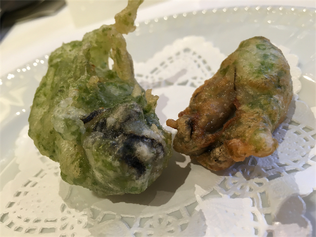 牡蠣のゼッポリーニ ナポリ風
