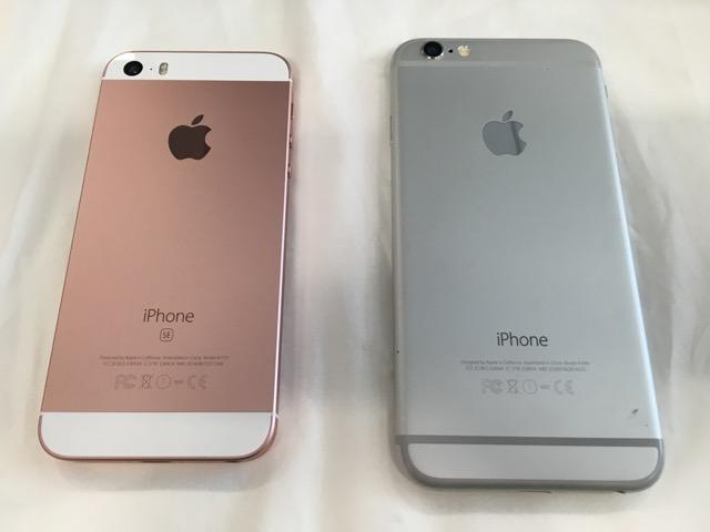iPhone SE - iPhone 6 と裏面