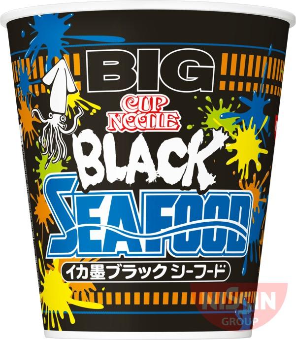 【予告】日清から「カップヌードル イカ墨ブラックシーフード ビッグ」が2017年7月31日に発売されるぞ!真っ黒いスープに興味津々♪