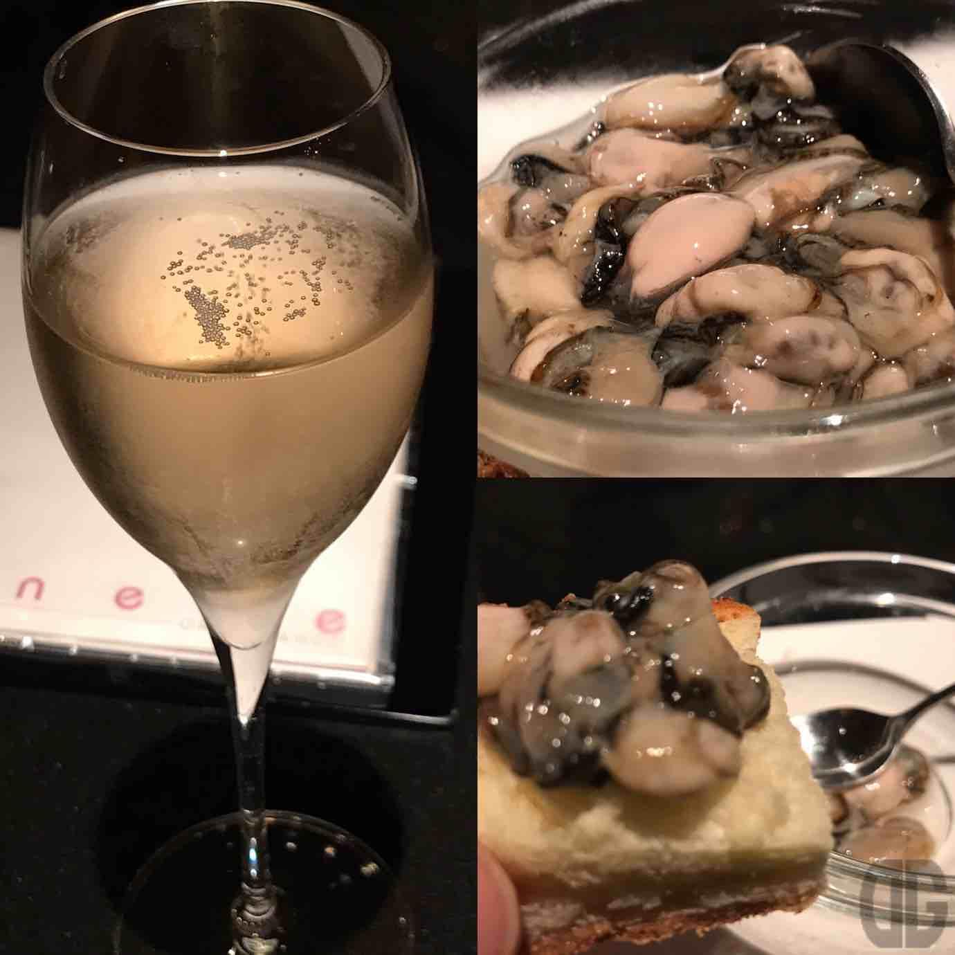 carmenere(カルムネール)(表参道)の牡蠣の人とのコラボイベント「カキシャンパイ vol.5」に参加。珍しい岩牡蠣の赤ちゃんをいただきました♪