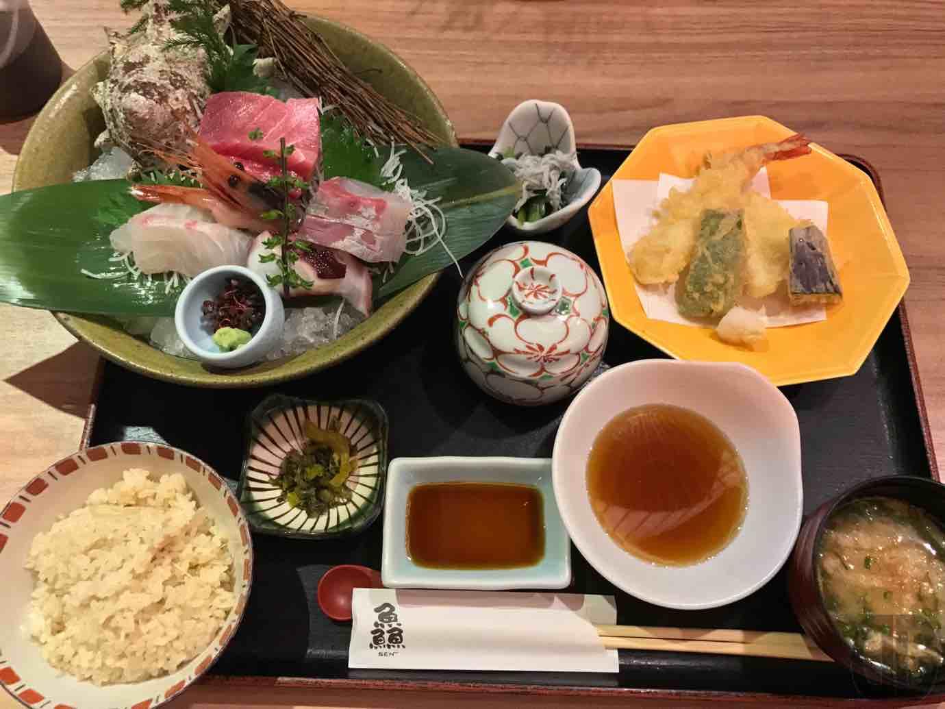 うを匠鱻(せん)神楽坂店で新メニュー?上造り天ぷら御膳でお刺身と天ぷらの両方をいただく