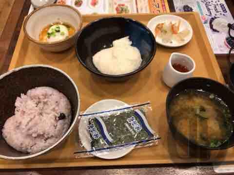 ジョナサン西新宿店でとろろ朝食をいただきました。ファミレスって楽しいですね